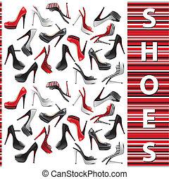 Ein Paar weibliche Schuhe.