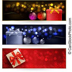 Ein paar Winter-Weihnachts-Banner