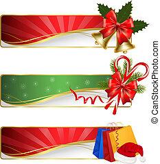 Ein paar Winter-Weihnachts-Banner.