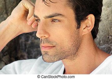Ein Profil von sexy Männern