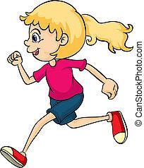 Ein rennendes Mädchen
