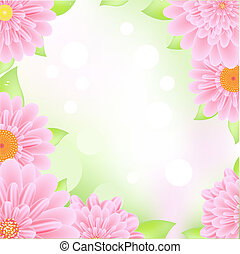 Ein rosa Gerberrahmen