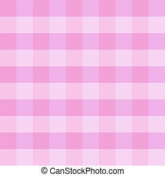 Ein rosa kariertes Tuch