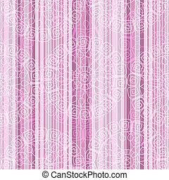Ein rosafarbenes, gestreiftes Muster