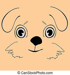 Ein süßer, lustiger Hundekopf
