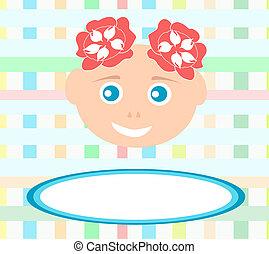 Ein süßes kleines Mädchen mit abstraktem Background