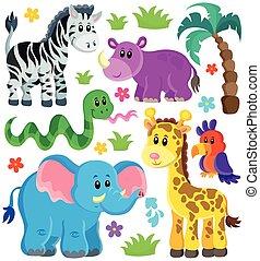 Ein Satz afrikanischer Tiere 3.
