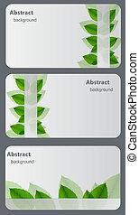 Ein Satz Natur-Geschenkkarten.Vector Illustration