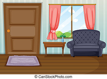 Ein sauberes Wohnzimmer