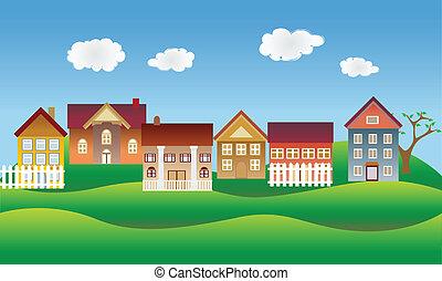 Ein schönes Dorf oder eine Gegend