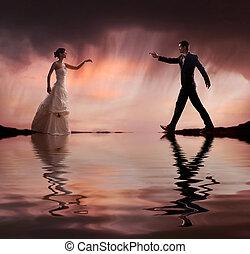 Ein schönes Hochzeitsfoto