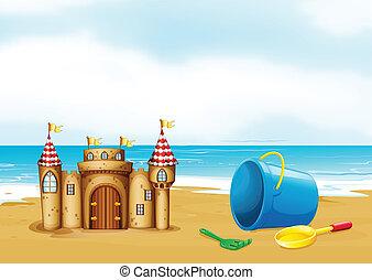 Ein Schloss am Strand.