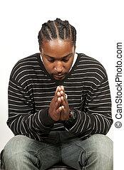 Ein Schwarzer betet