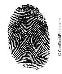 Ein schwarzer Fingerabdruck