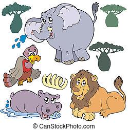 Ein Set afrikanischer Tiere 1