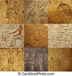 Ein Set alter ägyptischer Schrift