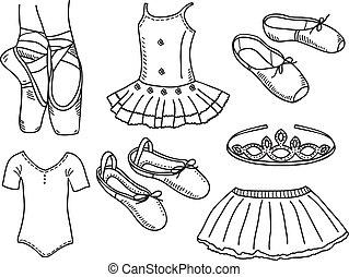 Ein Set Ballerina Accessoires