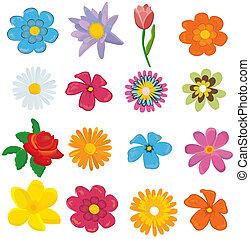 Ein Set Blumengrafikvektor