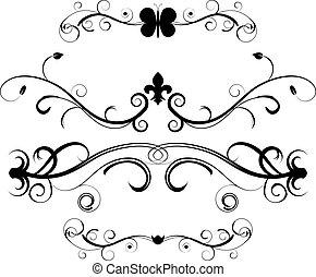 Ein Set decorativer Seite-Divider