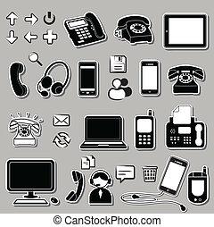 Ein Set elektronischer Symbole