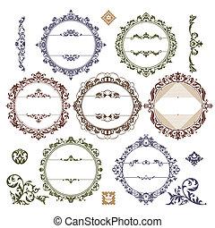 Ein Set königlicher Jahrgangsbilder