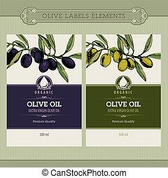 Ein Set Olivenöl