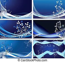 Ein Set von abstraktem Hintergrundvektor