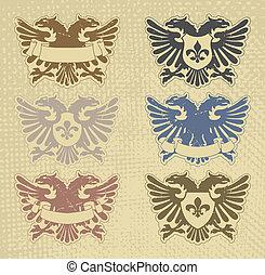 Ein Set von Briefmarken