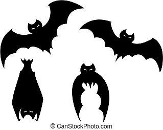 Ein Set von Halloween-Schlägern