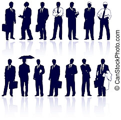 Ein Set von Vektor-Geschäftsleuten