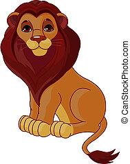 Ein sitzender Löwe