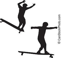 Ein Skateboarder Silouette Vektor