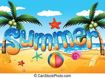 Ein Sommer am Strand.