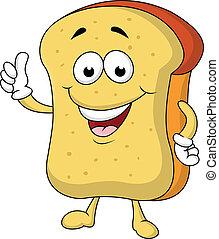 Ein Stück Brot-Cartoon-Figur