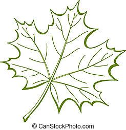 Ein Stück kanadischem Ahorn, Piktogramm