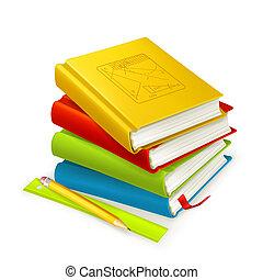 Ein Stapel Lehrbücher, Vektor