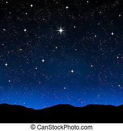 Ein Sternenhimmel in der Nacht