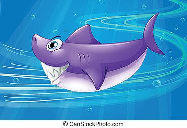 Ein tiefes Meer mit einem Hai