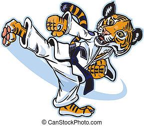 Ein Tiger-Kumpel-Kampfkünstler