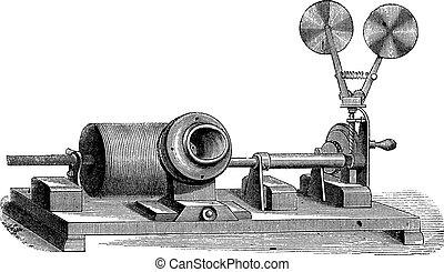 Ein Uhrwerk Grammophon - C, Zylinder, Mund, Jahrgang