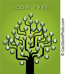 Ein Vektor-Icon-Baum
