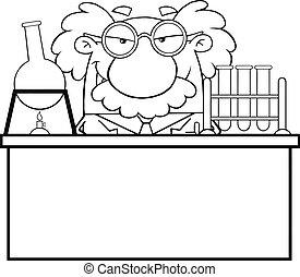 Ein verrückter Wissenschaftler oder Professor