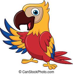 Ein Vogel-Zeichentrickfilm winkt