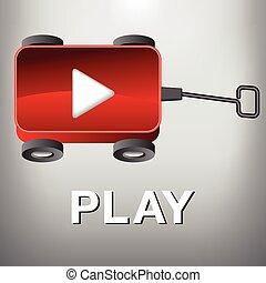 Ein Wagen - Filmknopf spielen.