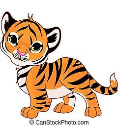 Ein wandelnder Tiger