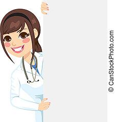 Ein weiblicher Arzt.