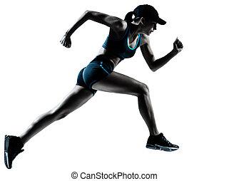 Ein weiblicher Jogger läuft