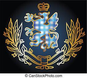 Ein wunderbares Adler-Herald-Emblem