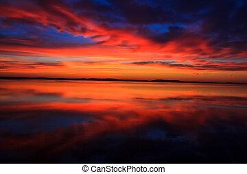 Ein wunderschöner Sonnenaufgang.