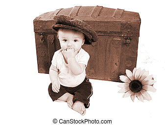 Ein wunderschönes klassisches Babyfoto